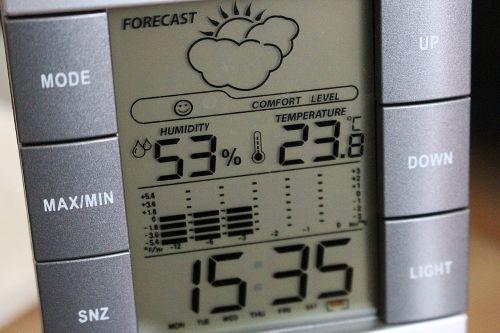 weather station digital display clock