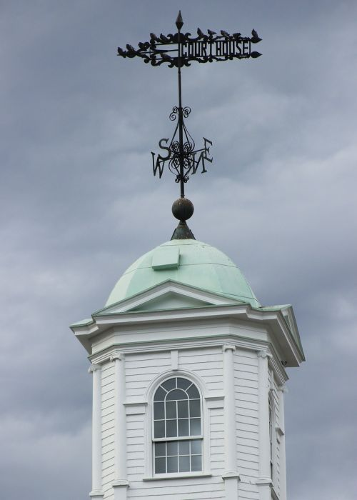weather vane copula sussex county courthouse