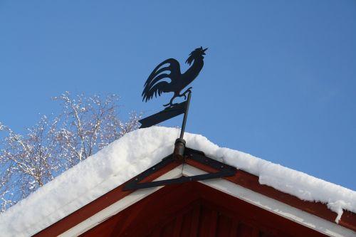 weather vane cock snow