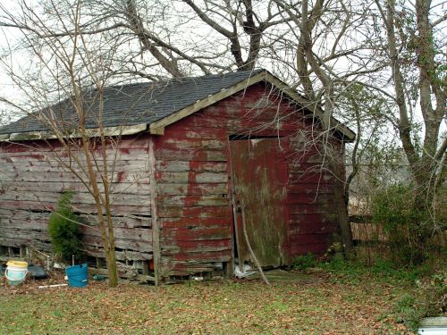 Weathered Broken Shed