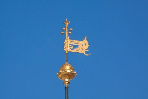 weathervane gilded gold