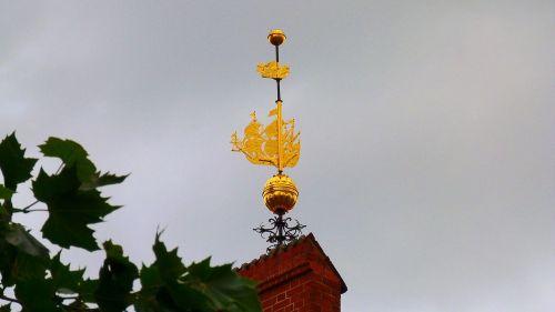 weathervane gilded ship
