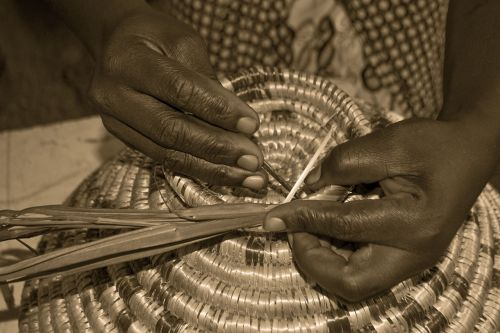 weaving craft basket african