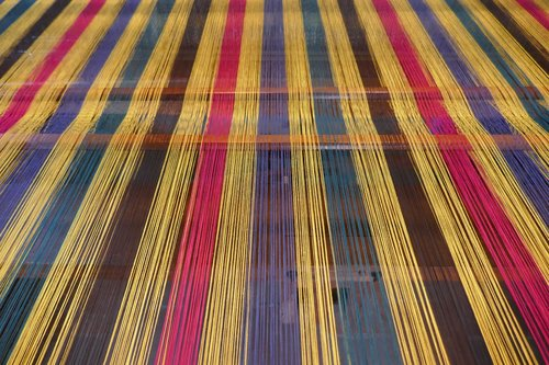 weaving mill  weft threads  loom