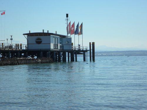 internetas,ežero konstanta,keltų terminalas,prieplauka,uostas,Hagnau,vėliavos,vanduo,ežeras,kraštovaizdis,mėlynas,pastatas,turizmas