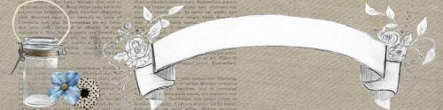 Web Banner Beige Script Vintage