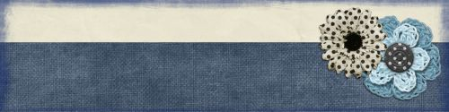 Web Banner Blue Flower Collage