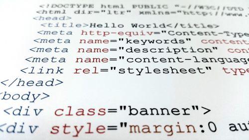 web page htlm code