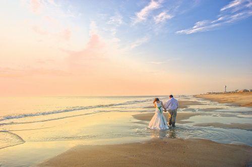 wedding boyfriend beach