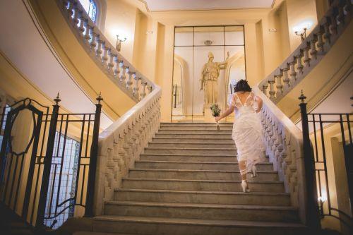 wedding women stairs