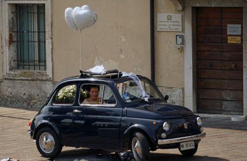 wedding wedding car fiat 500