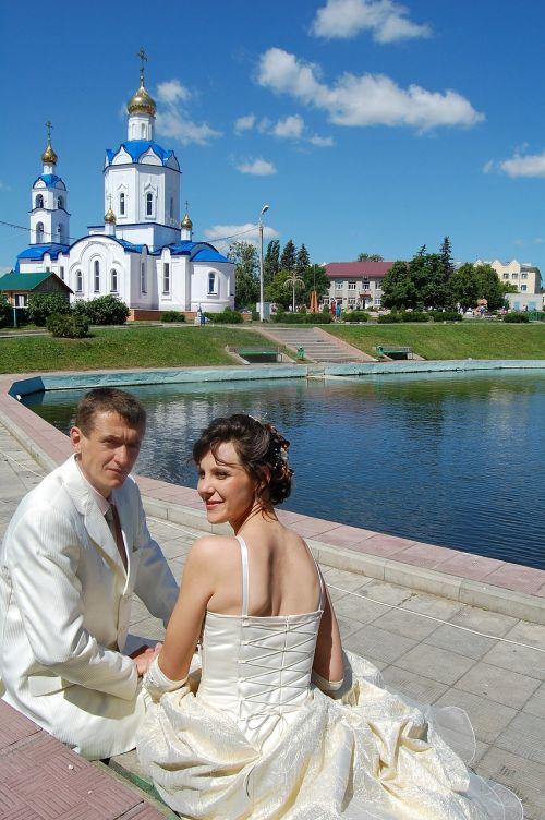 wedding stroll just married