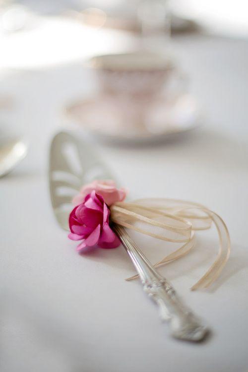 wedding cake server silver