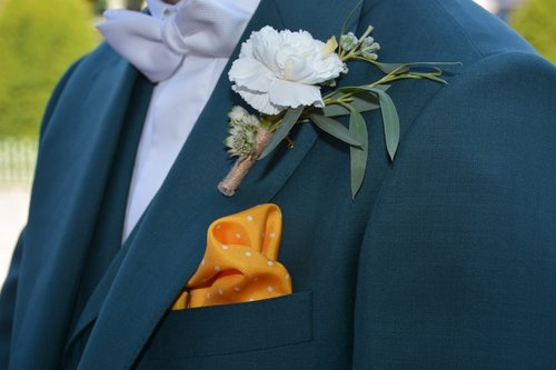 wedding  pouch  flower