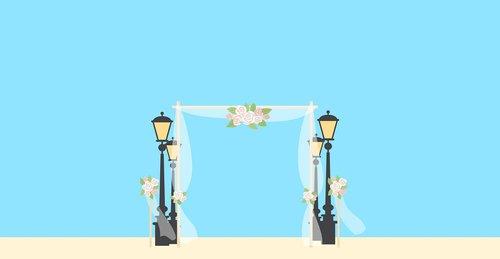 wedding  gate  moment