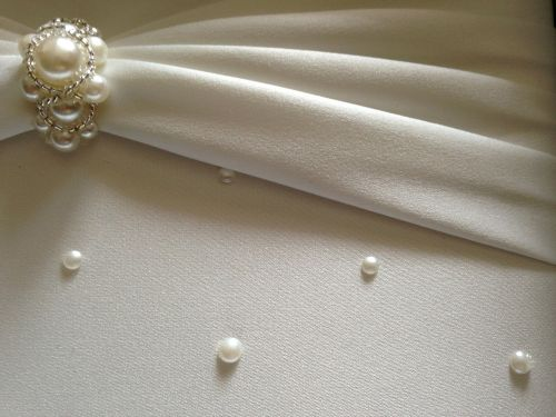 wedding pearl satin