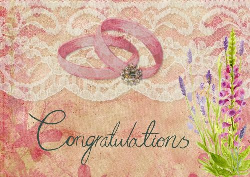 wedding congratulations invite