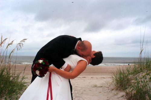 seaside wedding session white dress