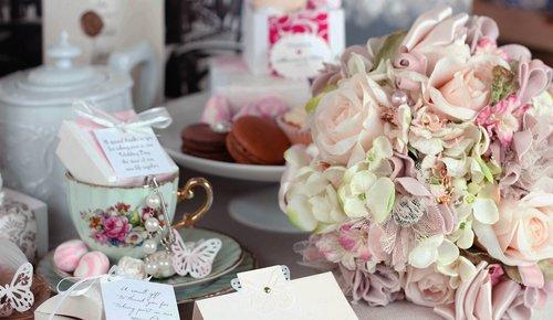 wedding bouquet  tea party  sweet