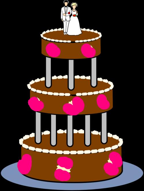 wedding cake tiered layers