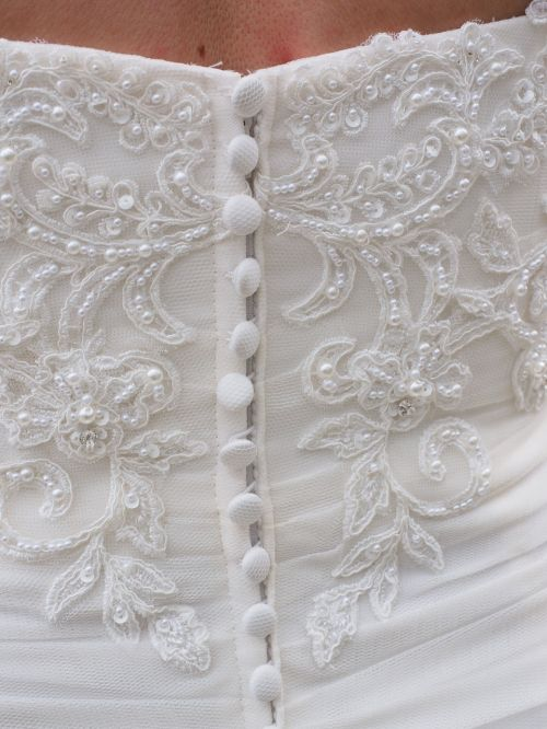 wedding dress corset buttons