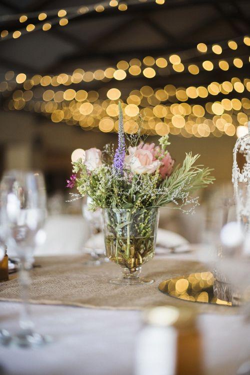 wedding reception table decor flower