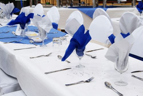wedding reception white napkin