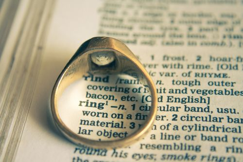 wedding ring ring dictionary