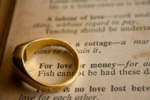 wedding ring wedding love or money