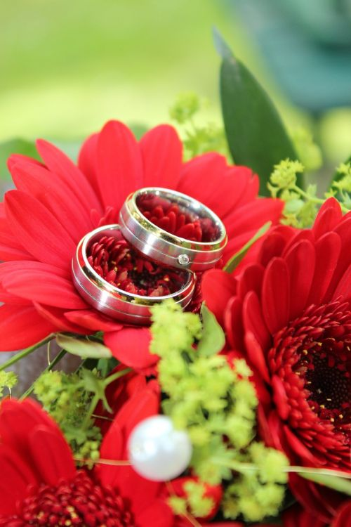wedding ring flowers marriage