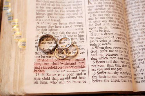 wedding rings bible verse