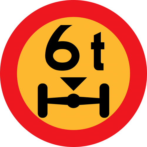 weight maximum 6 tonnes