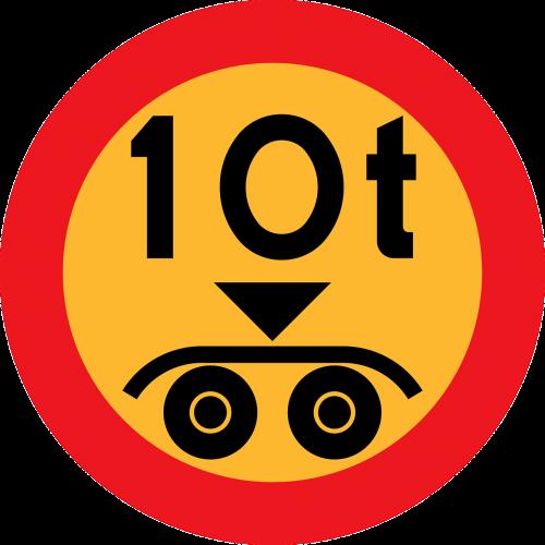 weight maximum 10 tonnes