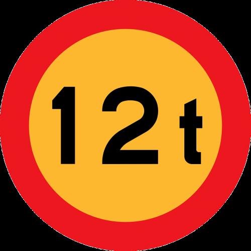 weight maximum 12 tonnes