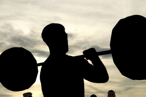 weight lifting competition silhouette