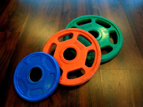 weight plates color gravel weights