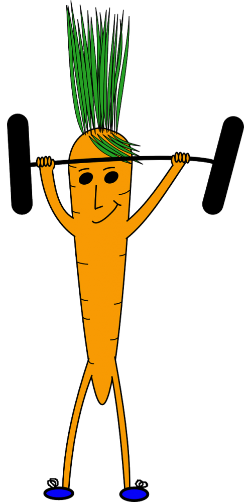 weightlifting carrot face