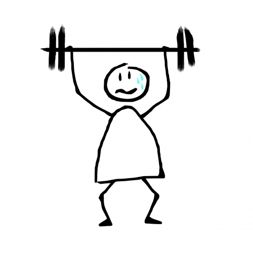weightlifting fatigue sweat