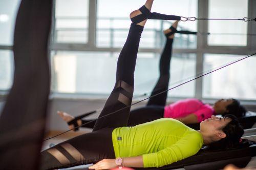 weights pilates girls