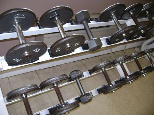 weights dumb bells gym