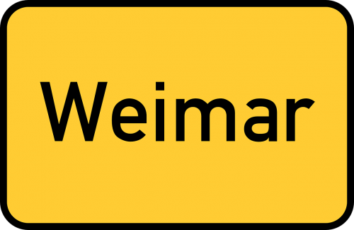 weimar thuringia town sign