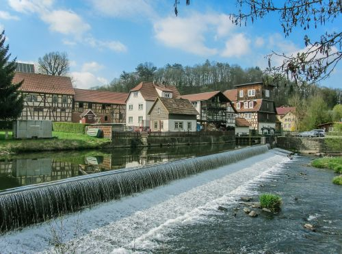 weir water thuringia germany