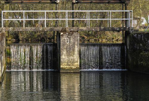 weir,tiltas,vandenys,upė,atspindys,kanalas,perpildymas,gamta,veidrodis