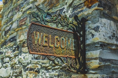 welcome  sign  greeting