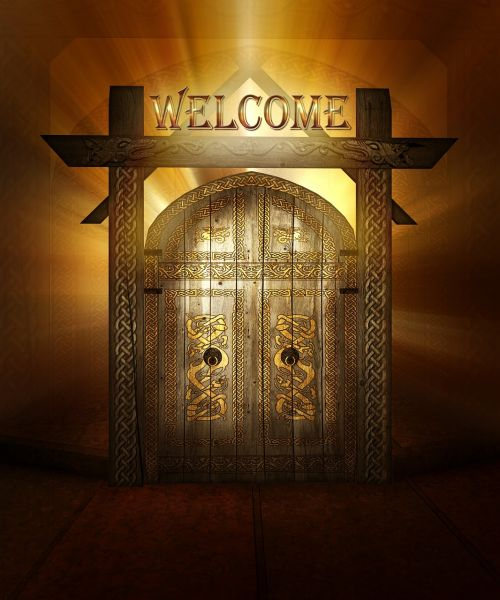 welcome gate decorative
