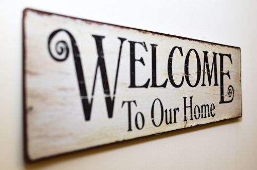 welcome to our home welcome tablet