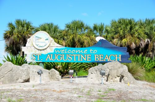 Welcome To St. Augustine Beach Sign