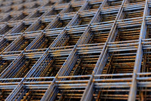 welded wire mesh  structural steel matt  building material