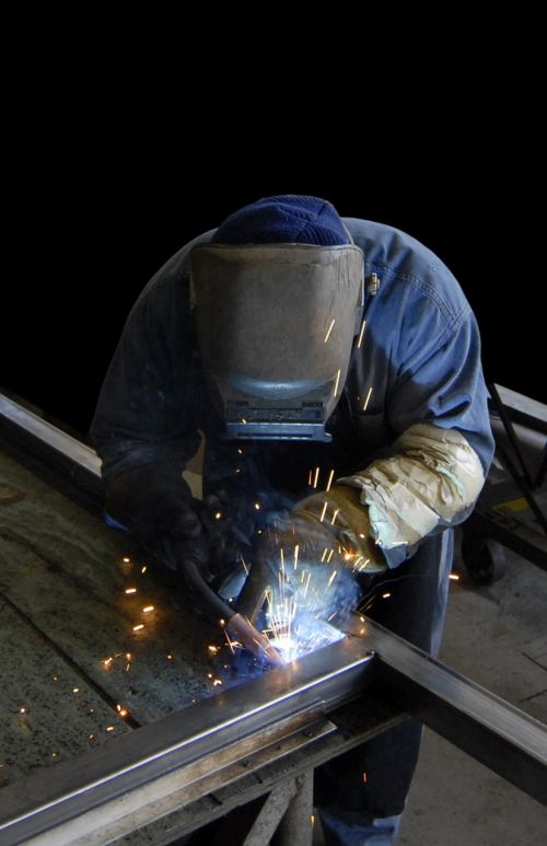 welder worker metal