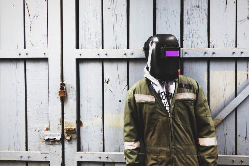 welder mask coverall